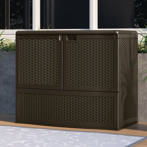 suncast suncast 195 gal outdoor patio double door vertical storage resin deck box reviews. Black Bedroom Furniture Sets. Home Design Ideas