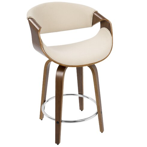 Langley Street Auburn 24 Quot Swivel Bar Stool With Cushion