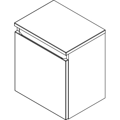 40,5 x 45,8 cm Schrank Piuro