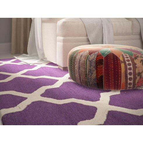 Brady Hand-Tufted Purple/Ivory Area Rug