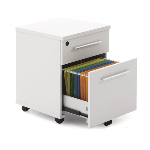 Pure Office 2- Drawer Mobile File Cabinet