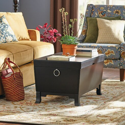 Three Posts Orchard Park Trunk Coffee Table with Lift Top