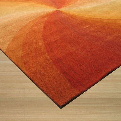 The Conestoga Trading Co Lenz Red Orange Area Rug