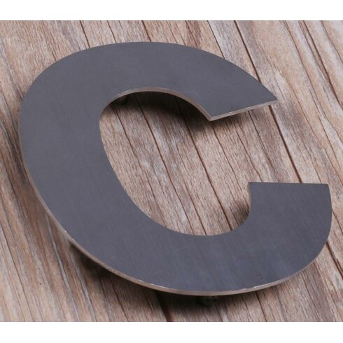 House numbers letters you39ll love wayfair wayfair for Floating house letters