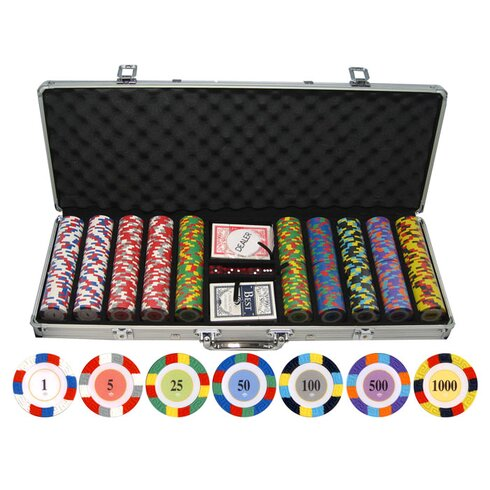 500 Piece Classic Clay Poker Chips Set