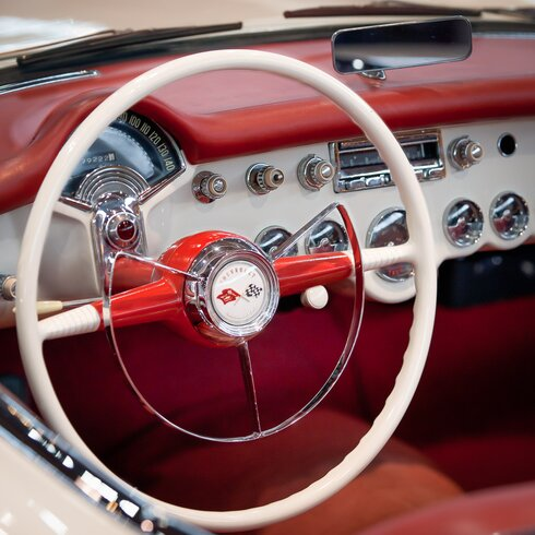 'Dashboard Red 2' by Philippe David Framed Photographic Print