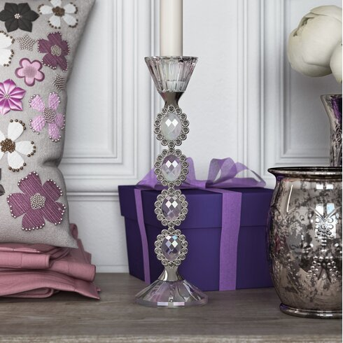 Crystal Cut Glass Candlestick