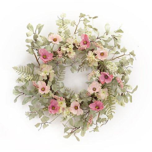 "25"" Poppy/Hydrangea Wreath"