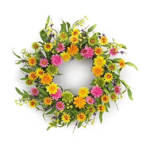 "22"" Zinnia Wreath"