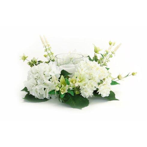 """14"""" Hydrangea/Foliage Wreath"""