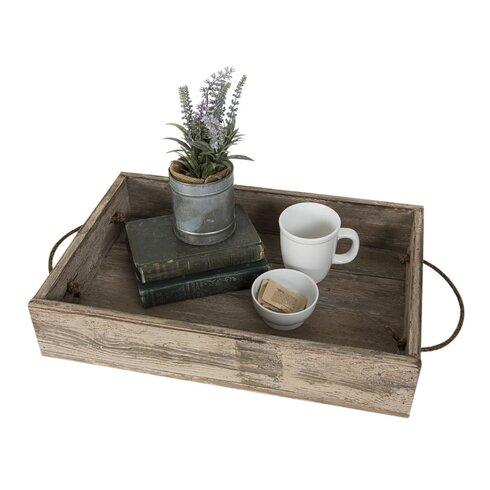 Reclaimed Wood Serving Tray - DelHutsonDesigns Reclaimed Wood Serving Tray Wayfair