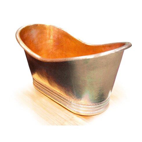 "Juliana Copper 67"" x 31"" Small Slipper Tub"