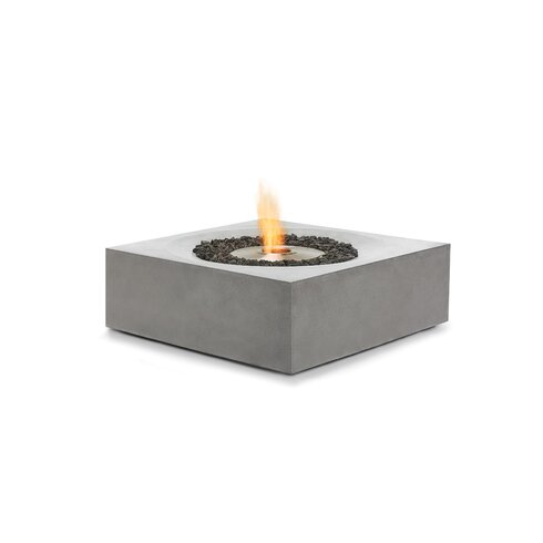 Bjfs solstice concrete bio ethanol fuel fire pit table for Alcohol fire pit