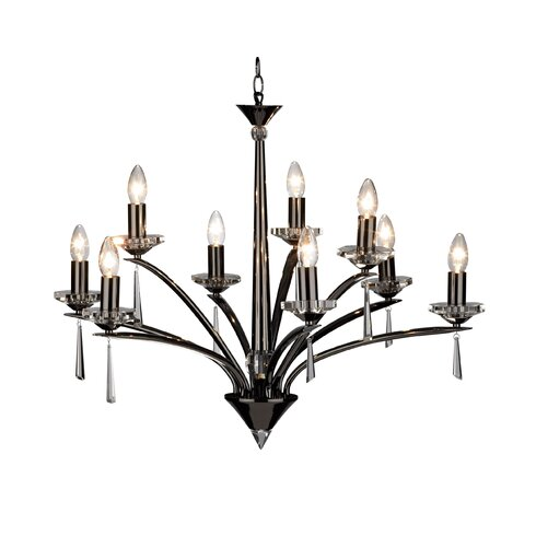 Hyperion 9 Light Candle Chandelier