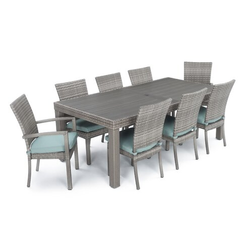 Alfonso 9 Piece Dining Set With Cushion Amp Reviews Allmodern