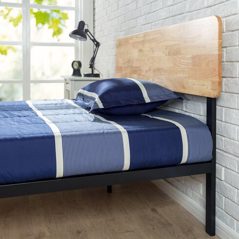 Tuscan Metal Wood Platform Bed Zinus Tuscan Metal Wood Platform Bed Reviews  Wayfair  Wooden Zinus. Red Zinus Discount Beds   makitaserviciopanama com