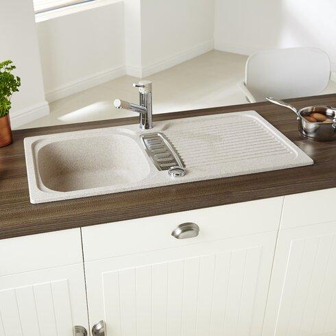 Majesty 86cm x 43.5cm 1.25 Bowl Kitchen Sink