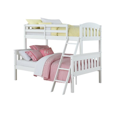 Zoomie kids immanuel twin over full bunk bed reviews for 3 4 beds for sale