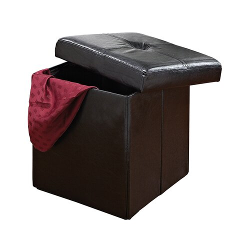 Rockville Single Folding Upholstered Storage Ottoman - Andover Mills Rockville Single Folding Upholstered Storage Ottoman