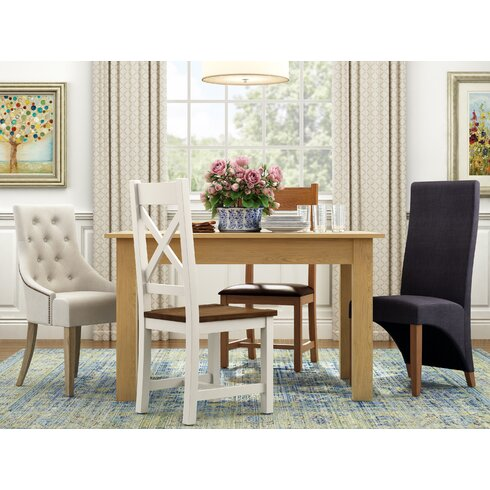 Tarpeena Solid Oak Upholstered Dining Chair