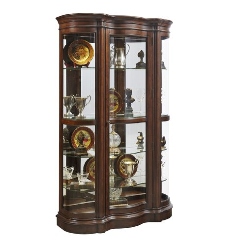 Wall Mounted Curio Cabinet With Curved Gl Subastral