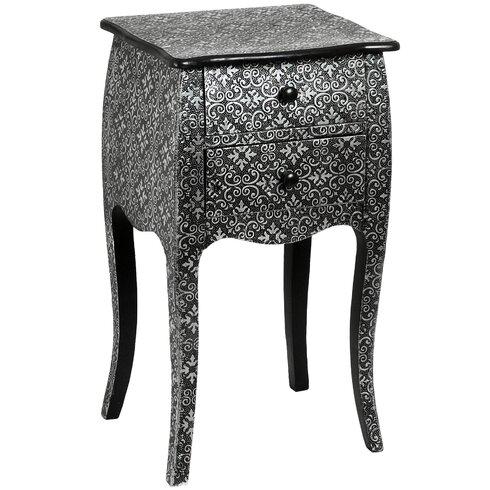 Habib 2 Drawer Bedside Table