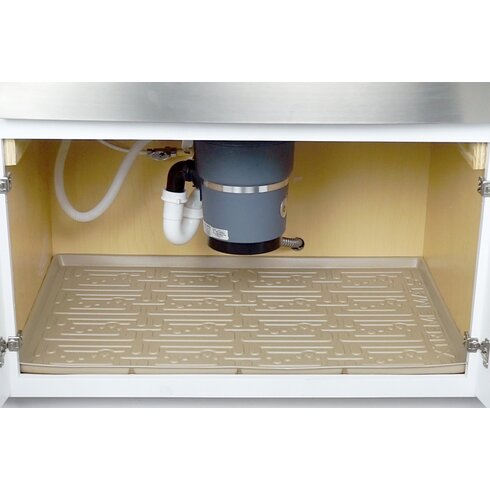 Xtreme mats under sink bathroom cabinet drip tray for Under sink cabinet tray