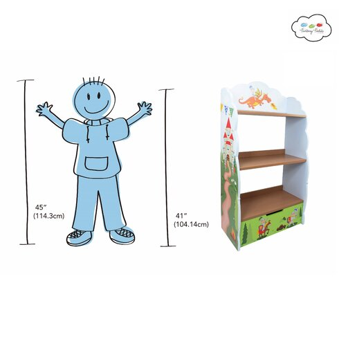 Knights And Dragons Children's 104cm Bookcase