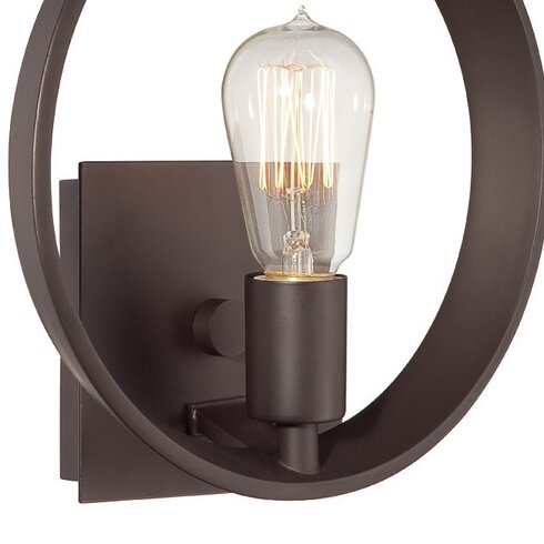 1 Light Semi-Flush Wall Sconce