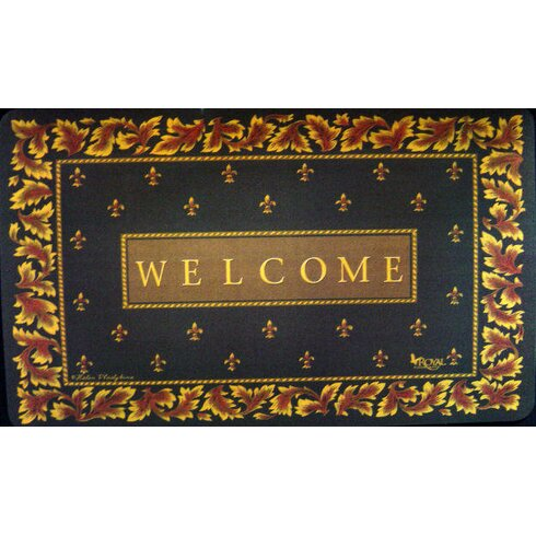 Custom printed rugs regal fleur de lis doormat reviews wayfair - Fleur de lis doormat ...