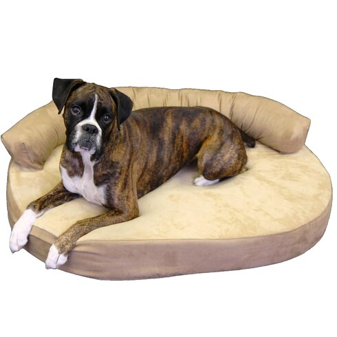 Large Orthopedic Memory Foam Gel Joint Relief Bolster Dog Bed