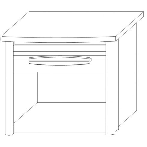 Montana 1 Drawer Bedside Table