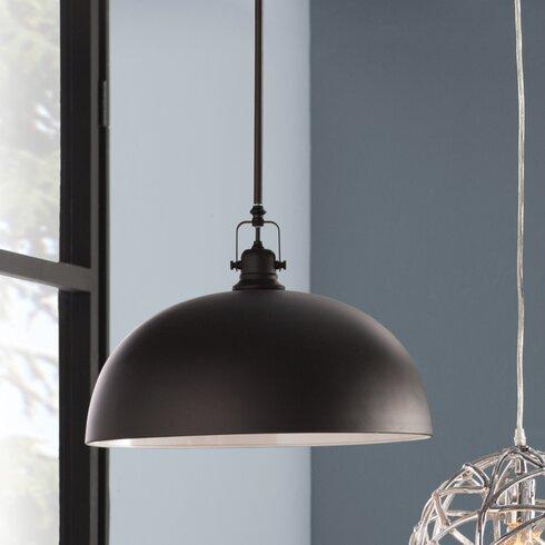 Black bowl pendant