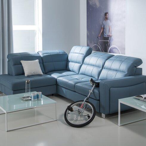home haus schlafsofa mirto aus leder. Black Bedroom Furniture Sets. Home Design Ideas