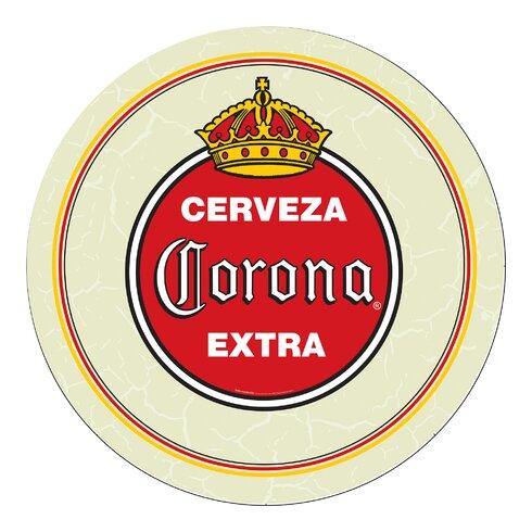 Trademark Global Corona Vintage Swivel Bar Stool With Back