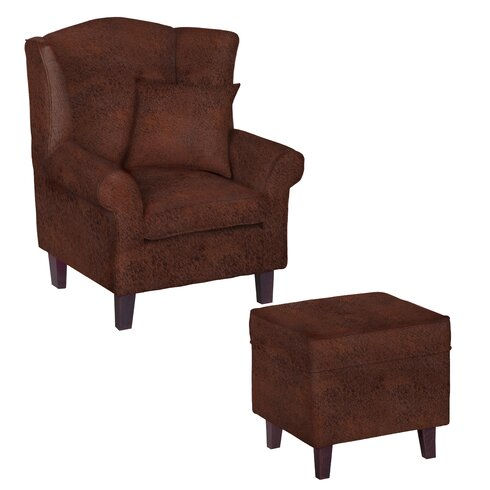 Godalming Wingback Chair and Ottoman