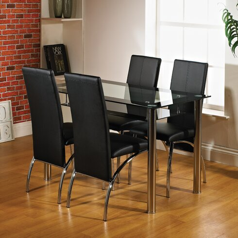 Maldon Dining Set with 4 Chairs