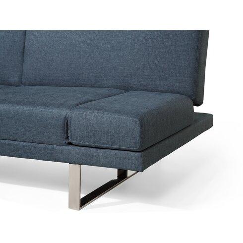 Beliani York Convertible Upholstered Sleeper Sofa