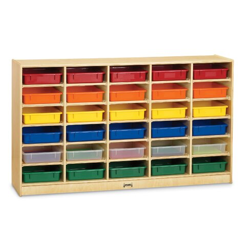 Paper-Tray 30 Compartment Cubby with Casters