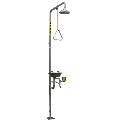 Safe-T-Zone Stainless Steel Series Emergency Combination Shower