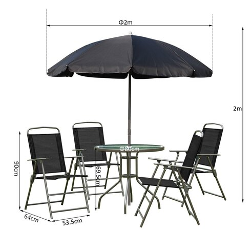 Outsunny 4 Seater Dining Set