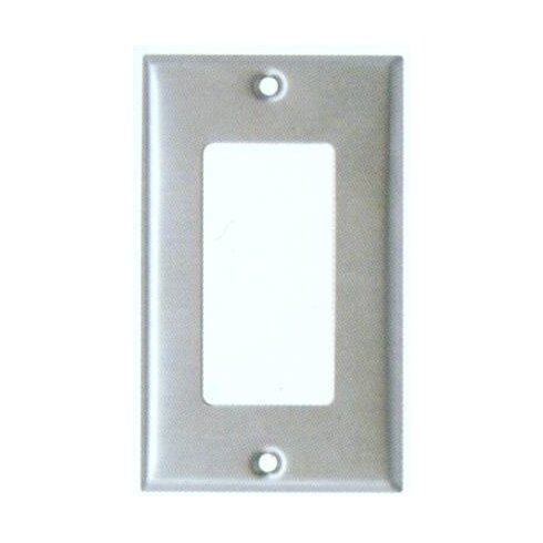 Gang Decorator and GFCI Metal Wall Plates in Stainless