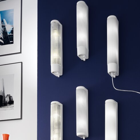 35cm Bari 1 Double Bathroom Light in White