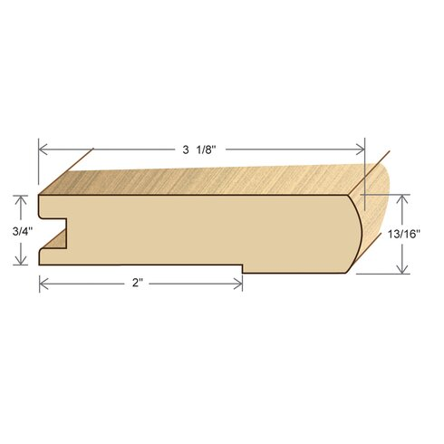 """0.81"""" x 3.125"""" x 78"""" Maple Stair Nose"""