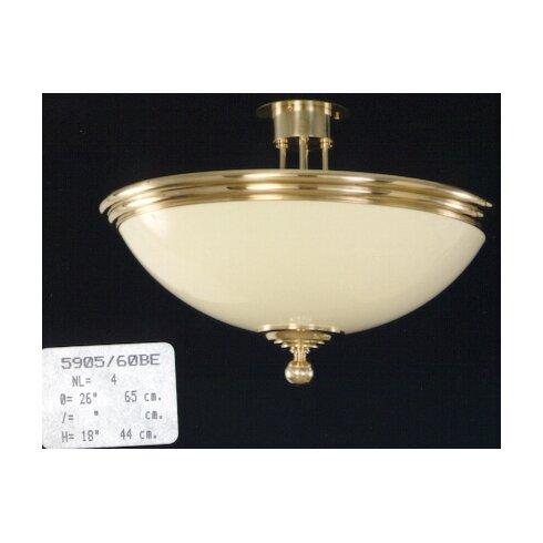 4 Light Semi-Flush Ceiling Light