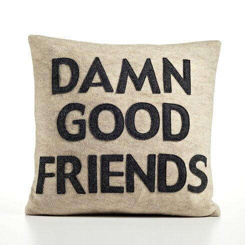 It Start With A Kiss Damn Good Friends Throw Pillow