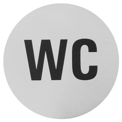 WC Sign in Brushed