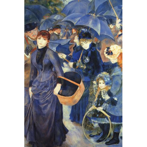 Les Para Pluies Painting Print on Wrapped Canvas