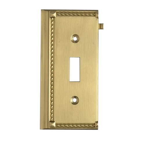 Clickplates Small End Switch Plate in Brass