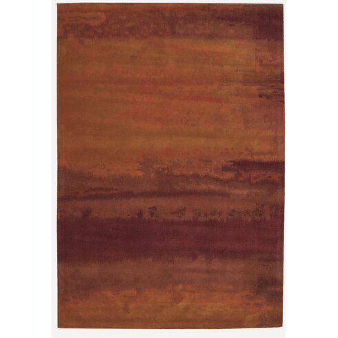Luster Wash Hand-Tufted Brown Area Rug